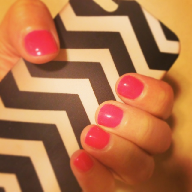 """Lauren"" polish (and my chevron phone case from J. Crew)"