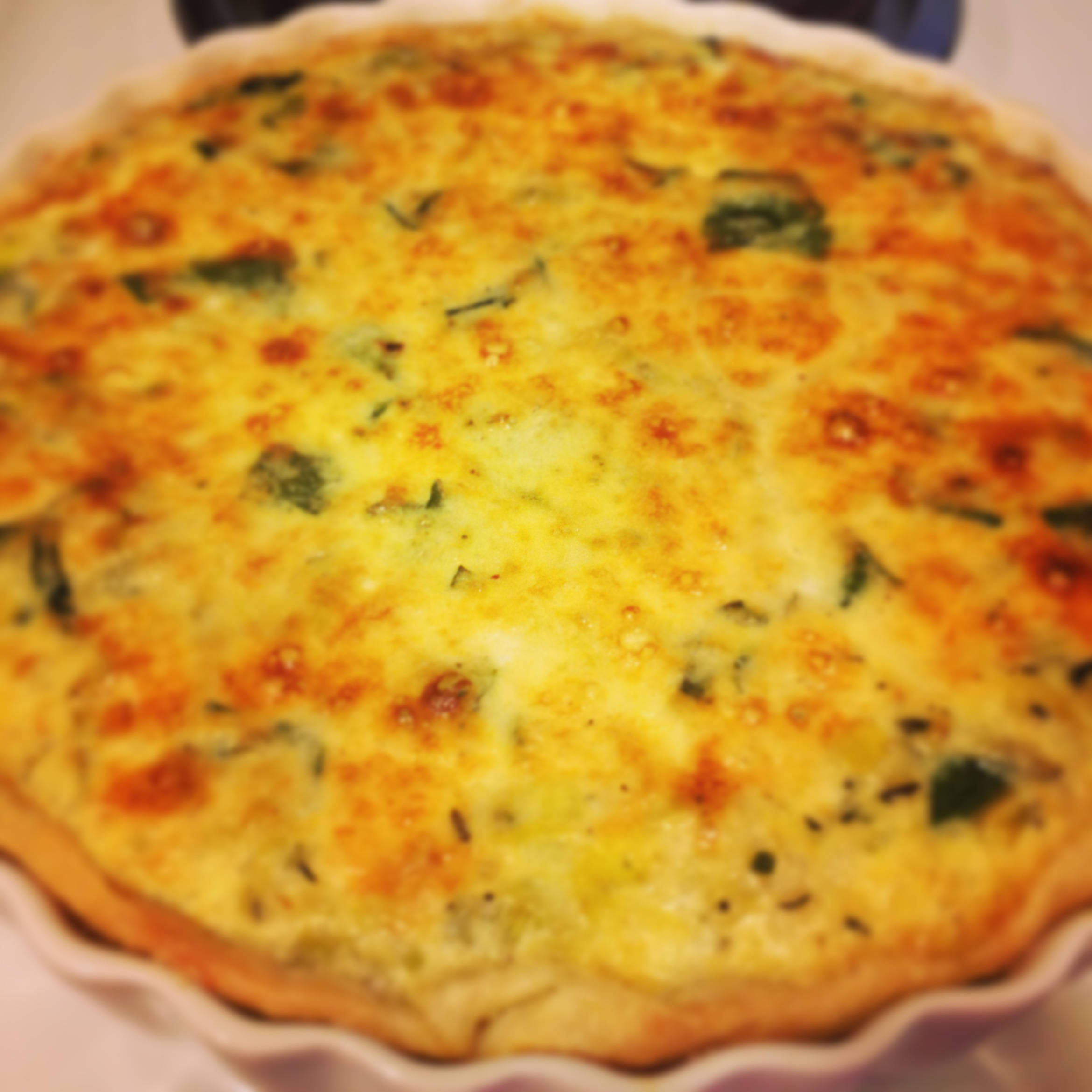 Leek and Swiss Chard Tart | Blueberries & Basil