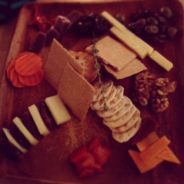 Gorgeous cheese plate to go with our wine