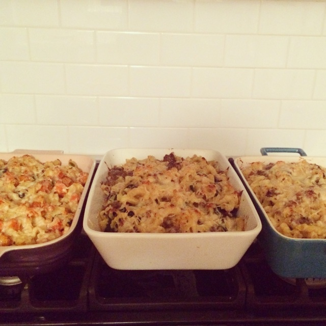 Crunchy Baked Pasta With Sausage (or Squash) And Greens