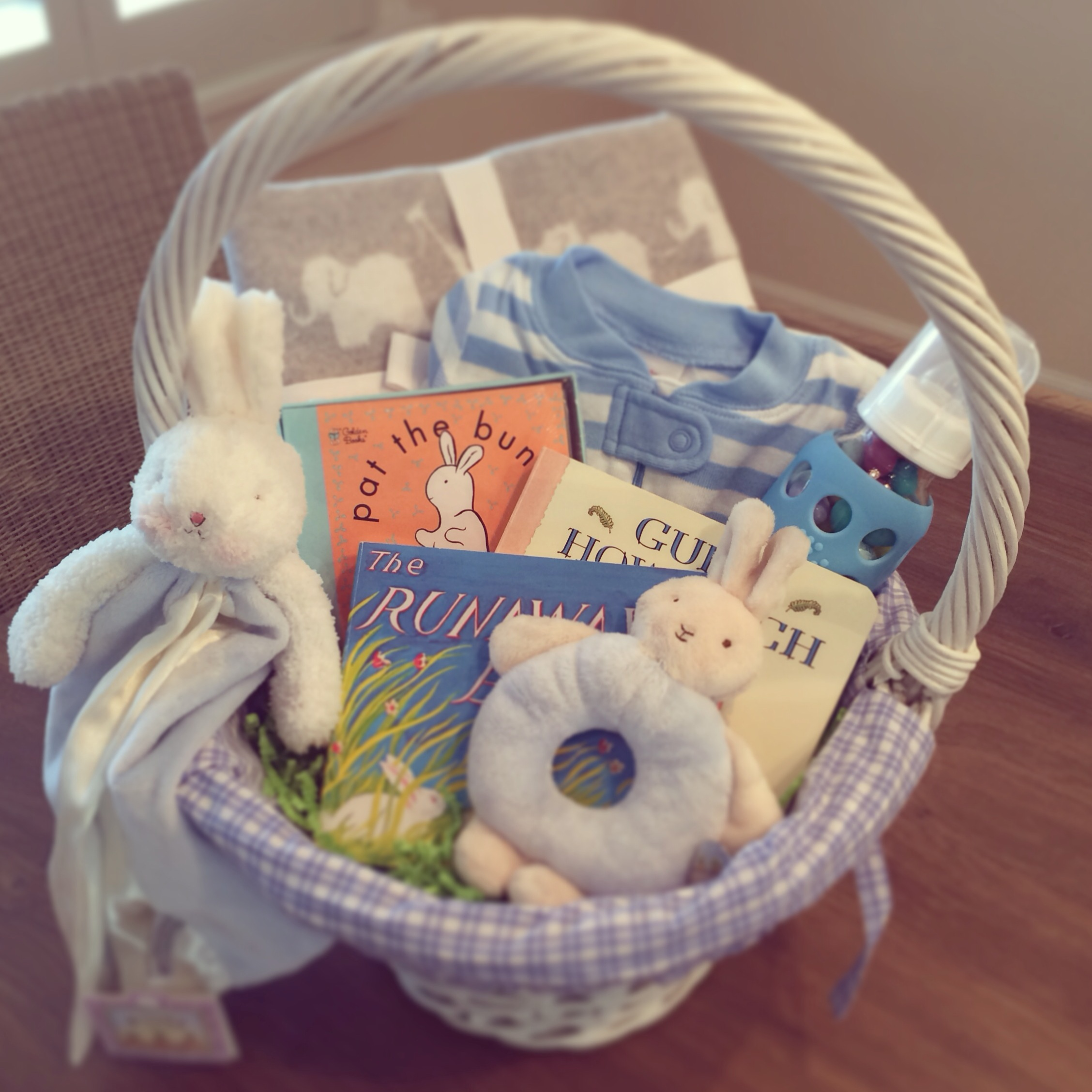 Baby boy easter basket ideas blueberries basil photo 11 negle