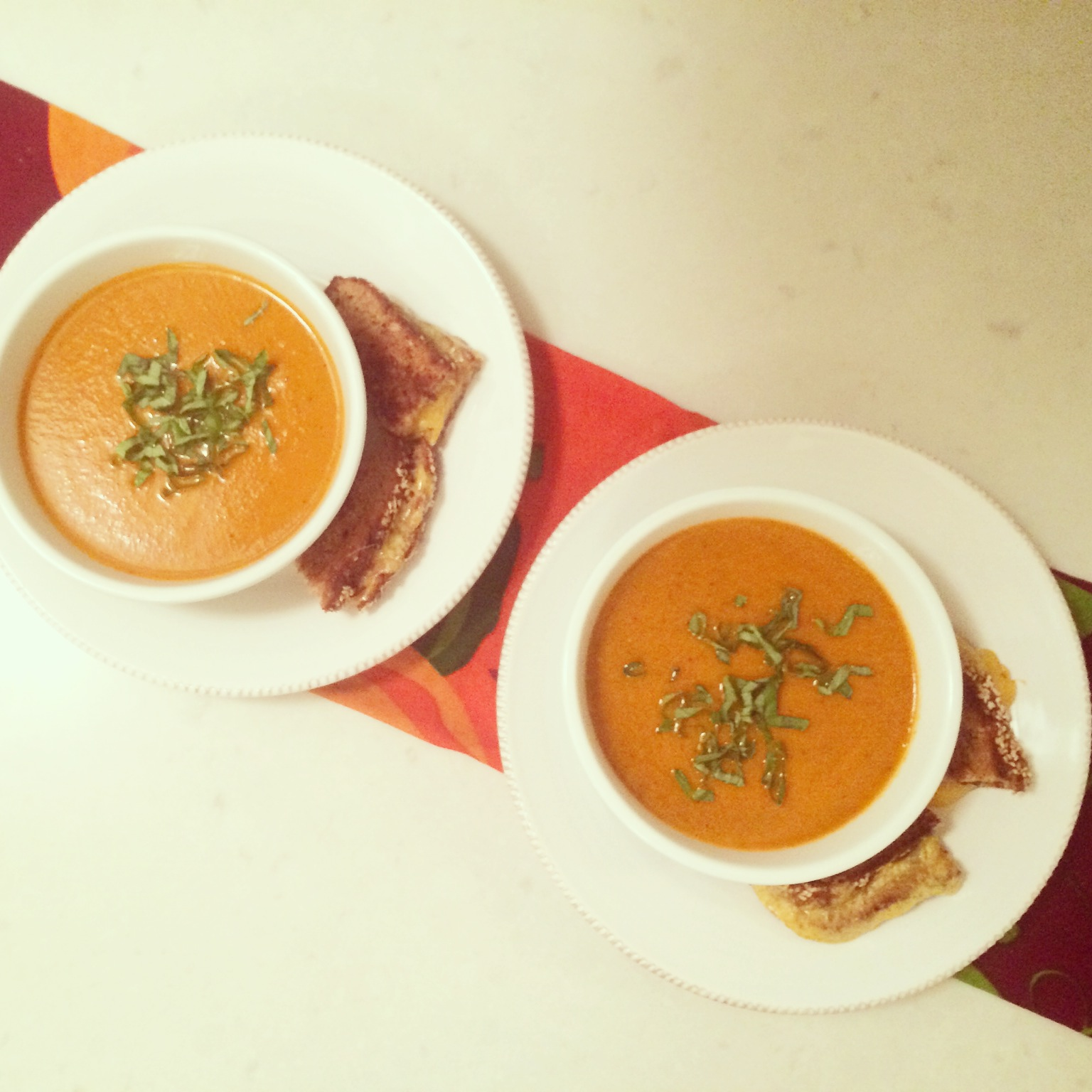 barefoot contessa roasted tomato basil soup | blueberries & basil