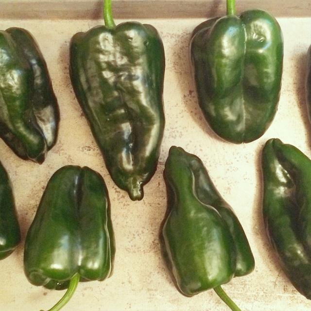 Corn Risotto-Stuffed Poblano Peppers