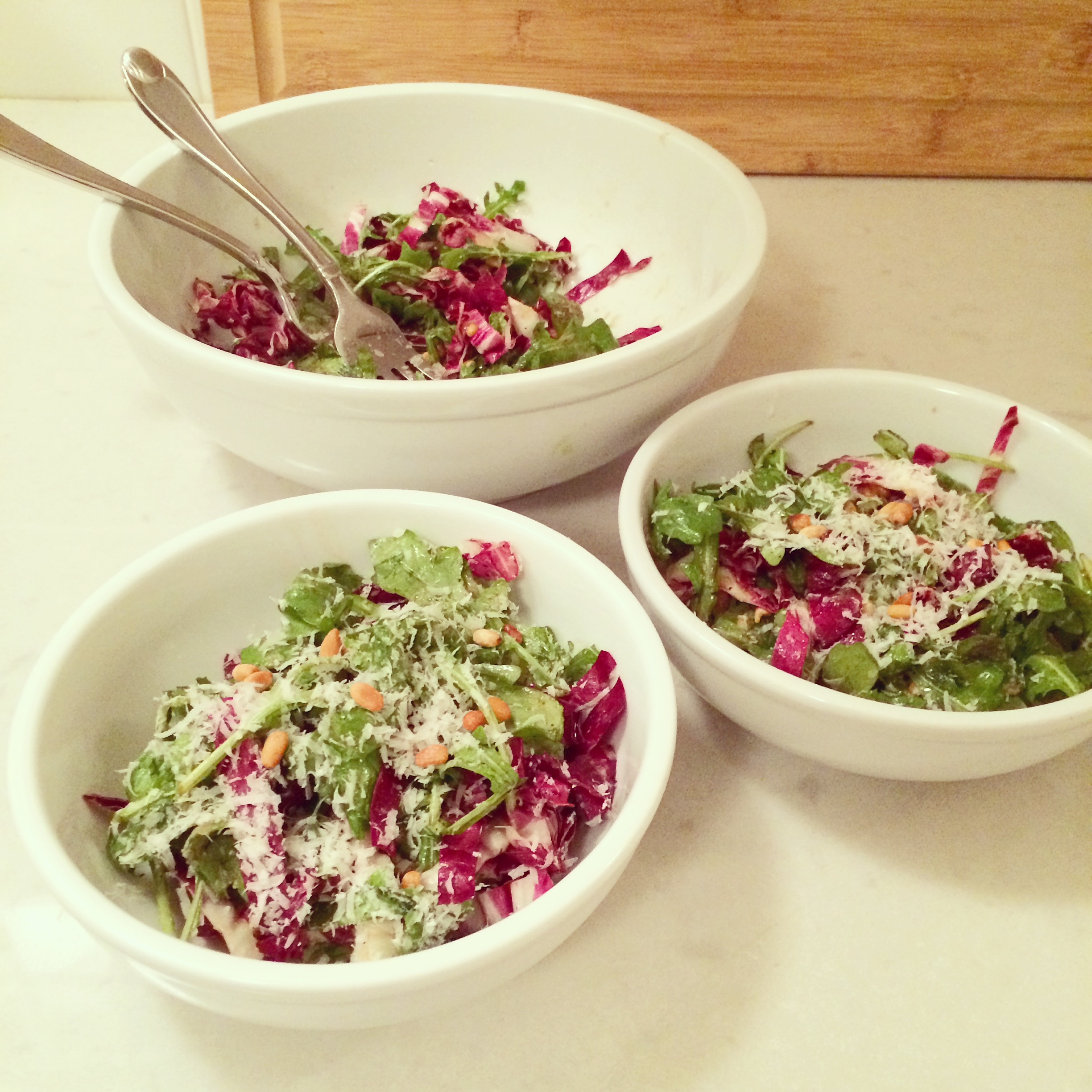 Jamie Oliver S Arugula And Radicchio Salad Blueberries Basil