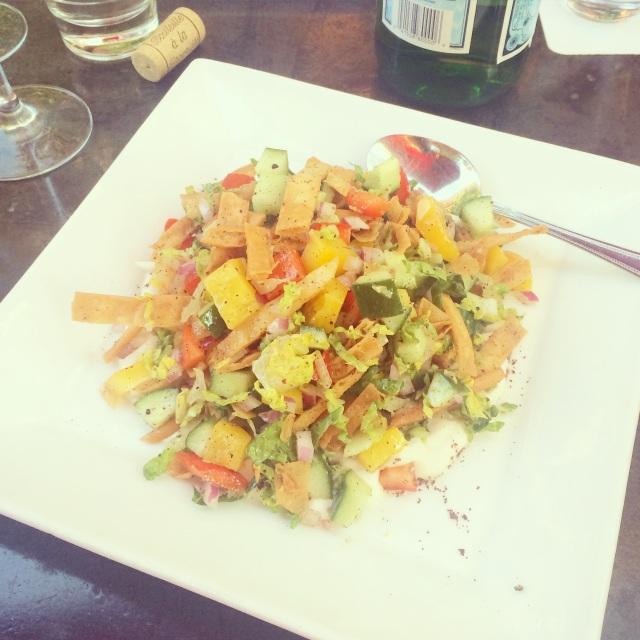 {fattoush salad at Ciachhetti}