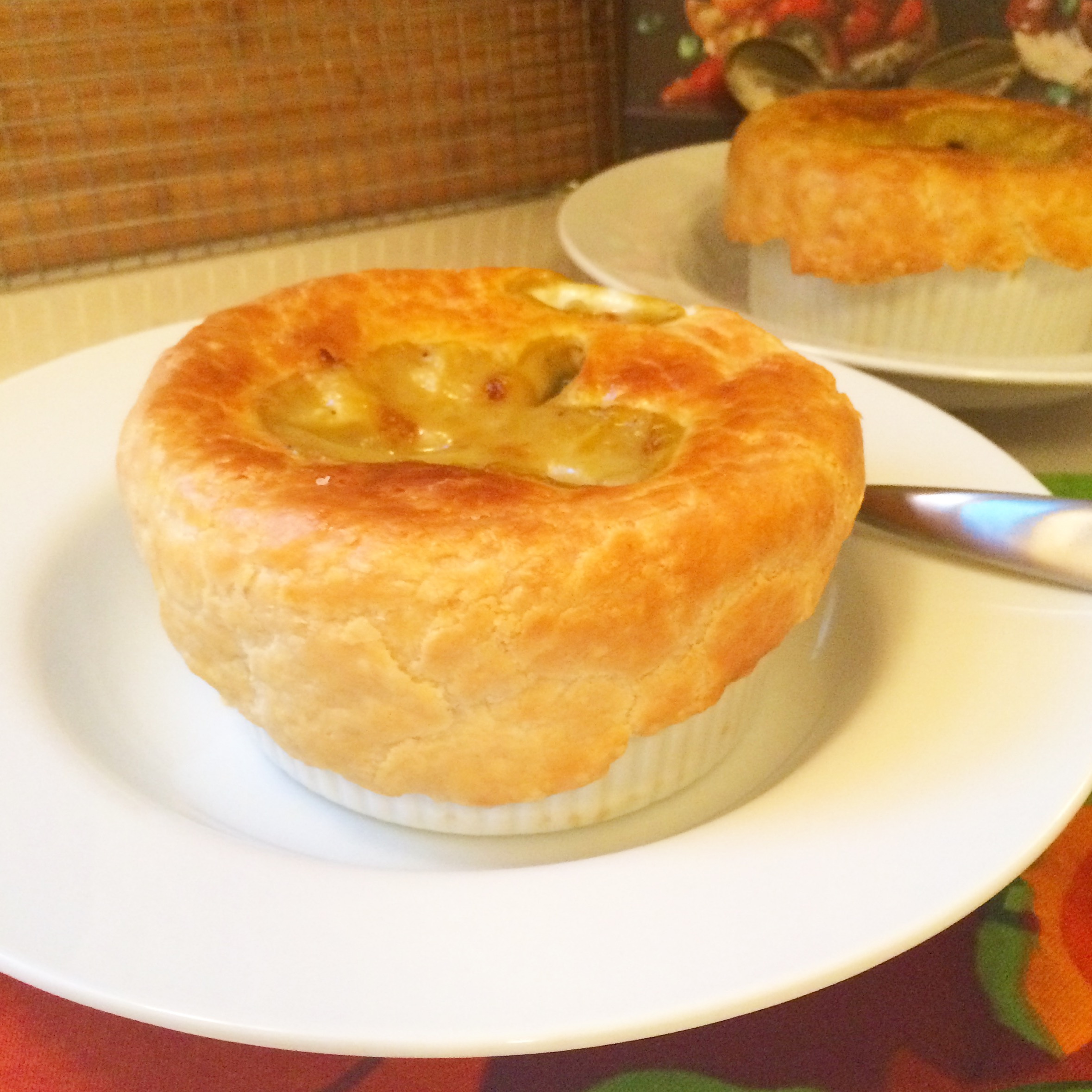 white bean and swiss chard pot pies (with or without pancetta